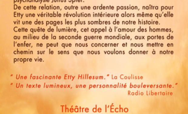 Visuel du projet Etty Hillesum - La flamme d'une âme