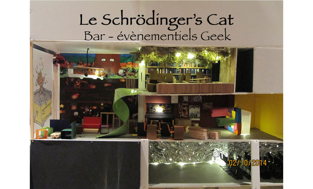 Project visual Schrödinger's Cat  Café-événementiel Geek