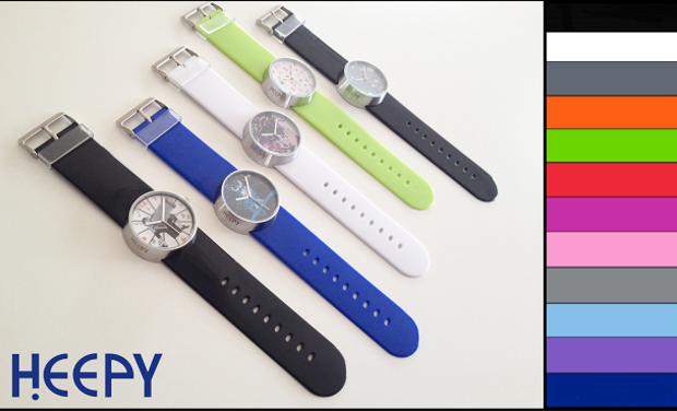 Visueel van project Heepy, chacun son style, chacun sa montre