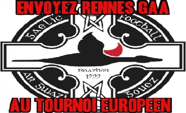 Visuel du projet Envoyez Rennes Gaa au tournoi Européen de football gaélique à Maastricht le 18 octobre