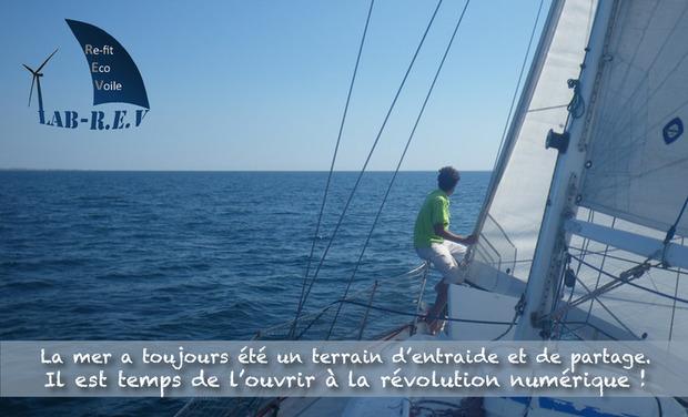 Project visual Lab-REV: le voilier laboratoire ambassadeur de la révolution numérique