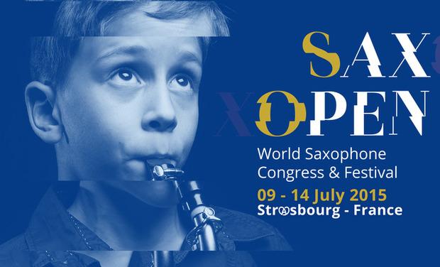 Visuel du projet Le Projet 100 jeunes saxophonistes européens pour SaxOpen 2015