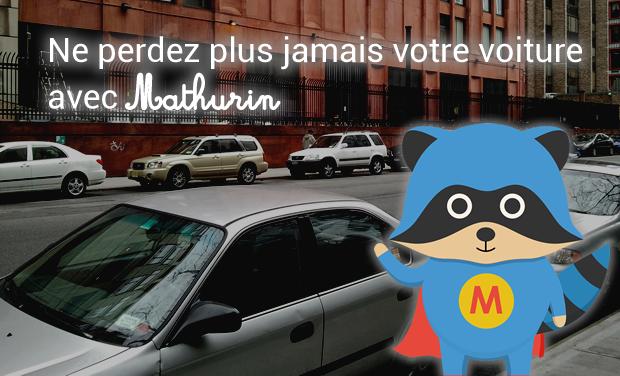 Visuel du projet Mathurin, l'application pour retrouver où on s'est garé