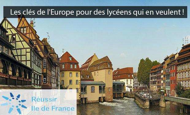 Visuel du projet •Les clés de l'Europe pour des lycéens qui en veulent !