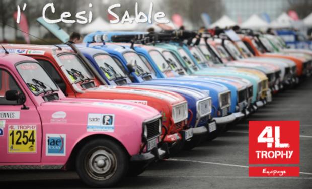 Visuel du projet 4L Trophy 2015 - 1' Cesi Sable