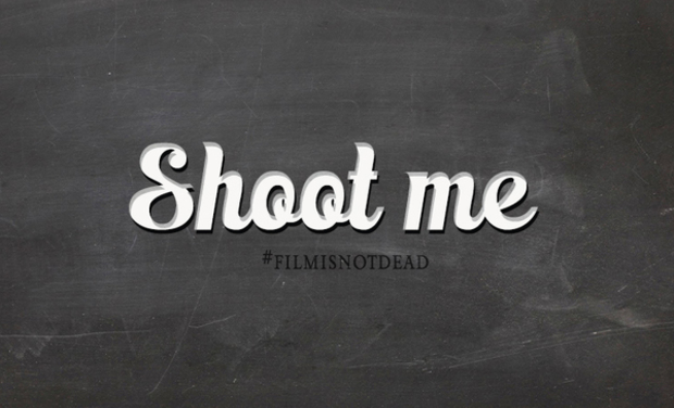 Visueel van project Shoot me #filmisnotdead