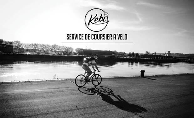 Visuel du projet Kebi - Service de coursier à vélo.