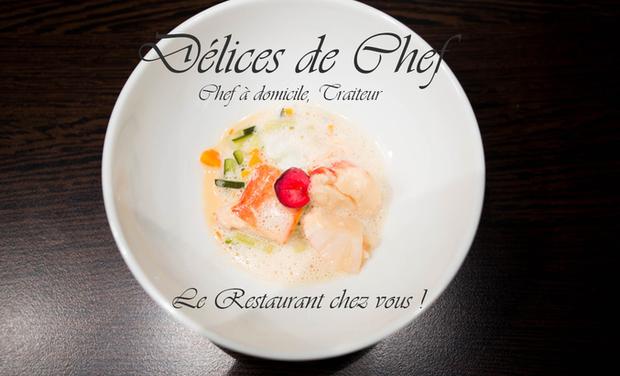 """Visueel van project Délices de Chef, chef à domicile, """"Le restaurant chez vous"""""""