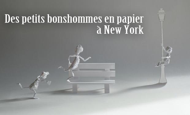 Visuel du projet Des petits bonshommes en papier à New York