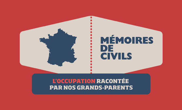 Project visual Mémoires de Civils - l'occupation racontée par vos grands-parents
