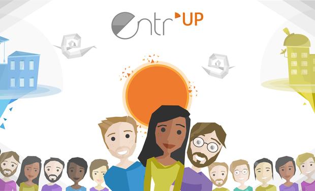 Visueel van project Entr'UP, l'appli qui crée des équipes complémentaires & pluridisciplinaires pour entreprendre