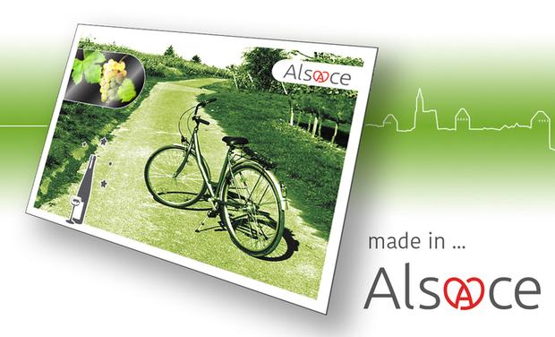 Project visual Cartes postales Holographiques #Alsace