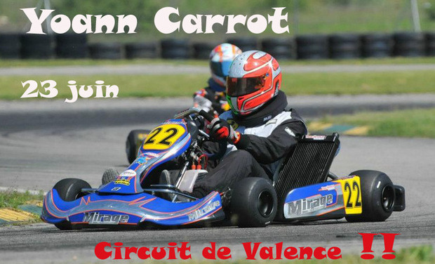 Project visual Karting course de Valence pour Yoann Carrot