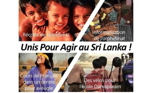 Visuel du projet Unis Pour Agir au Sri Lanka !