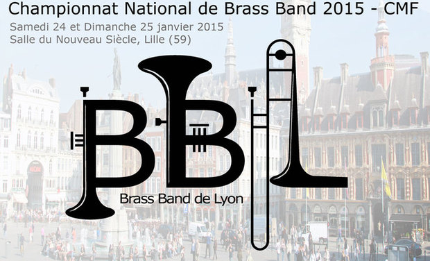 Visuel du projet Brass Band de Lyon au Championnat National de Brass Band 2015 à Lille !
