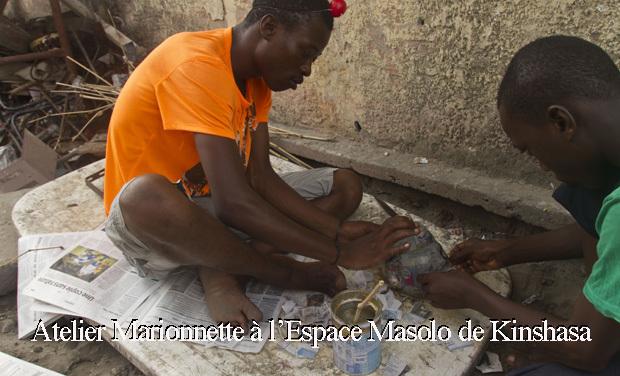 Visuel du projet Atelier Marionnette à l'Espace Masolo de Kinshasa