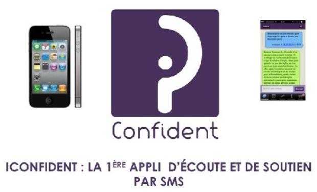 Visuel du projet iConfident : la 1ère appli mobile d'écoute et de soutien par SMS