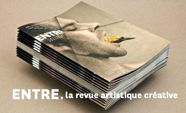 Visuel du projet ENTRE, la revue artistique créative