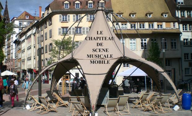 Visuel du projet Le Chapiteau de Scène Musicale Mobile