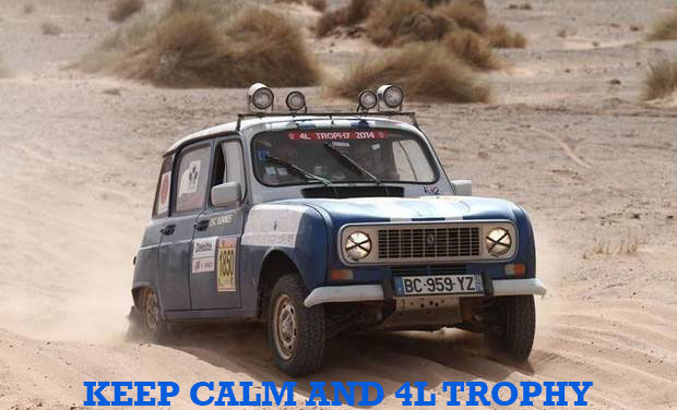 Visuel du projet KEEP CALM AND 4L TROPHY