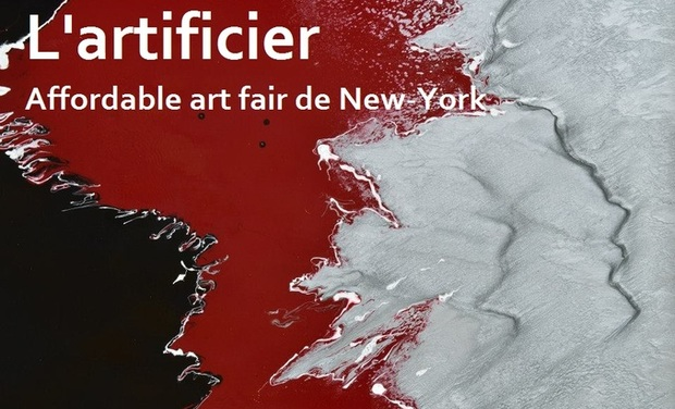 Project visual L'artificier à l'Affordable art fair New-York