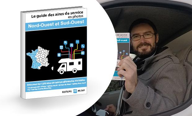Visuel du projet Guide papier interactif des aires de service pour camping-car