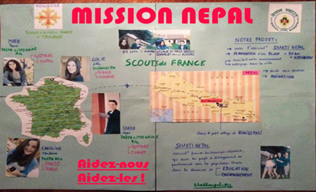Visueel van project Mission Népal