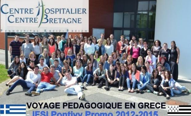 Project visual La promo 2012-2015 de l'IFSI de Pontivy en voyage pédagogique en Grèce!