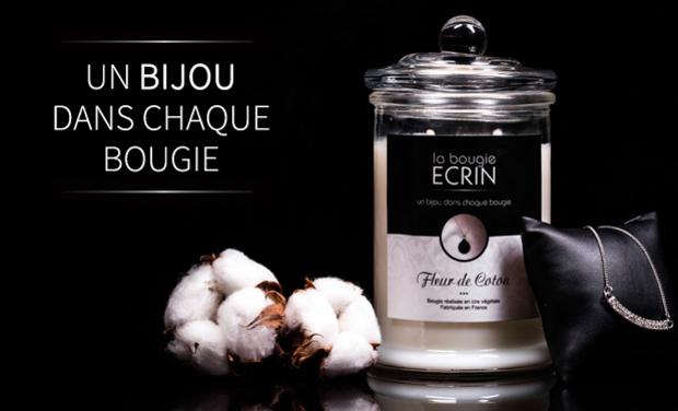 Project visual La Bougie Ecrin : un bijou dans chaque bougie !