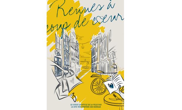 Visueel van project Rennes à coup de coeur sort son city-guide