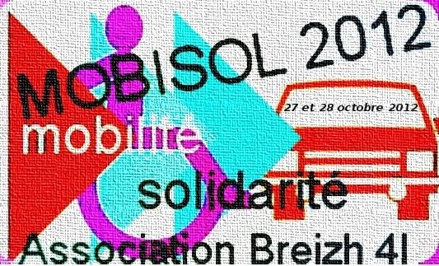 Visueel van project MOBISOL 2012  --- La passion automobile au service de la solidarité ---