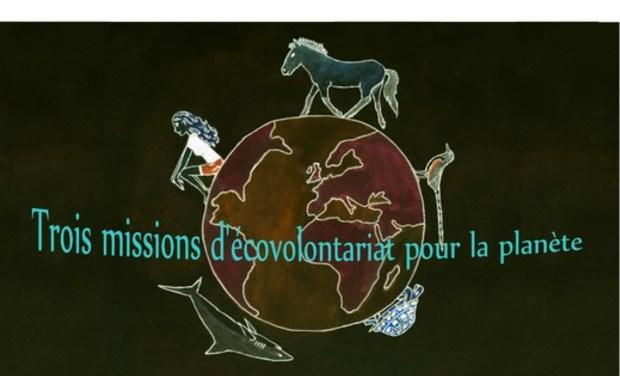 Project visual Trois missions d'écovolontariat pour la planète
