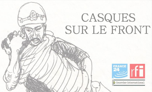 Project visual Casques sur le front, le webdoc
