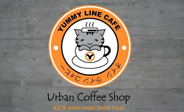 Project visual Yummy Line Café , Coffee Shop Tokyo-Style