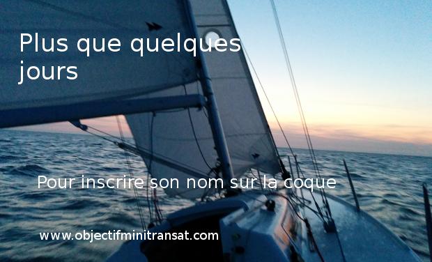Visuel du projet Votre nom sur la coque d'un mini 6.50, embarquez avec Simon Benaïchouche pour la saison 2015