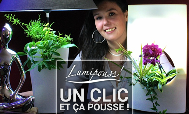 Visuel du projet Lumipouss'®  Un clic et ça pousse !