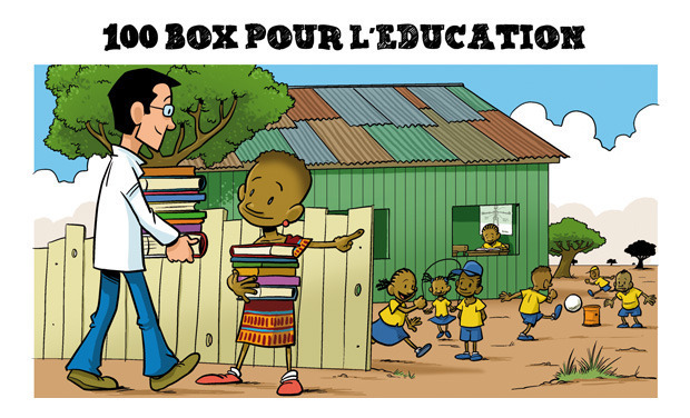 Visueel van project 100 BOX pour l'Éducation