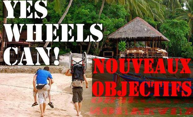 Visueel van project Yes Wheels Can : un fauteuil roulant pour un globe-trotteur / A wheelchair for a globetrotter