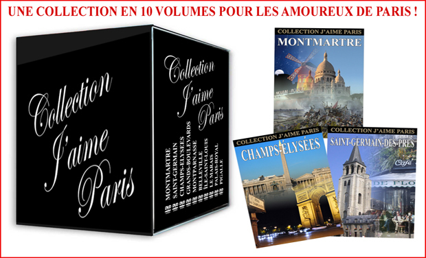 Project visual Financez la Collection j'aime Paris en 10 DVD