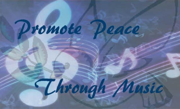 Visueel van project Promote Peace through Music