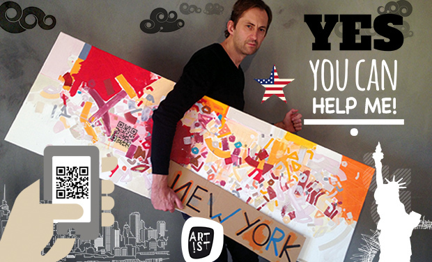 Visueel van project Hey guys, un artiste frenchie crée des QR codes sur New York et à New York !