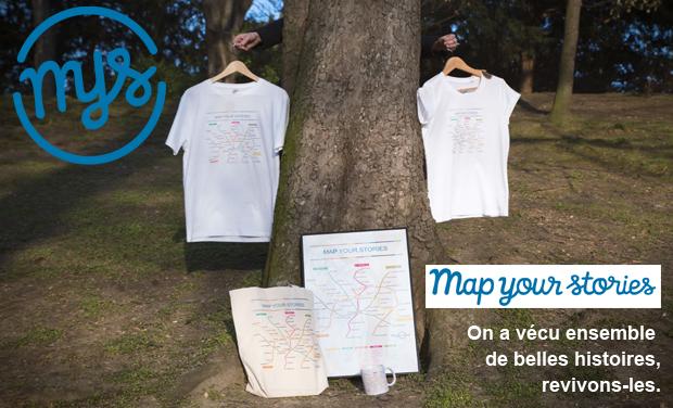 Project visual Map your stories : vos anecdotes en plan de métro pour un cadeau unique
