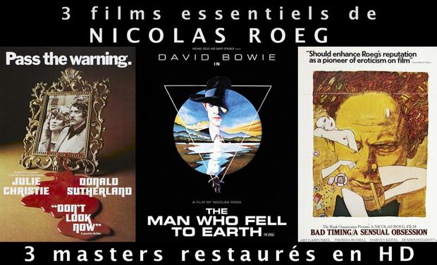 Visuel du projet Trois films essentiels de Nicolas Roeg en Blu-Ray