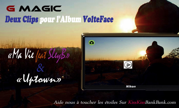 Visueel van project Deux Clips pour l'Album VolteFace de G Magic