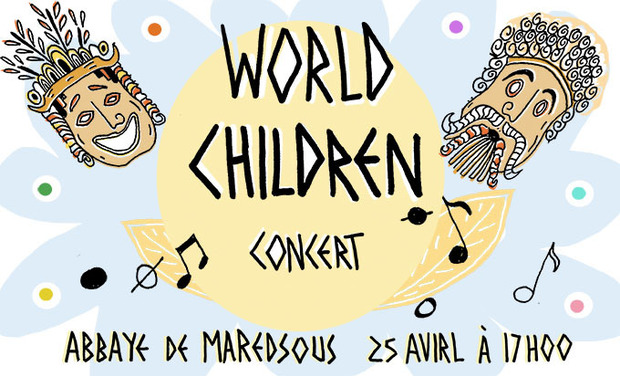 Visueel van project Concert World Children Abbaye de Maredsous 25 avril 17h