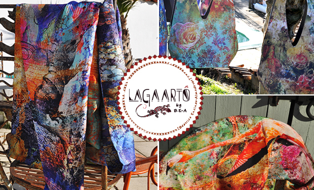 Project visual Lagaartô - Foulards  &  sacs 100 % éco-responsables