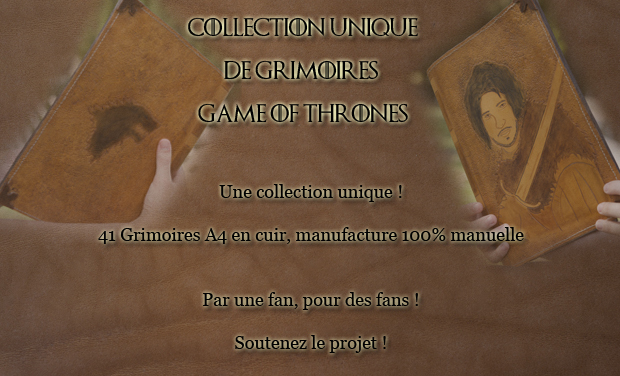 "Visuel du projet Collection de grimoires ""Game Of Thrones"""