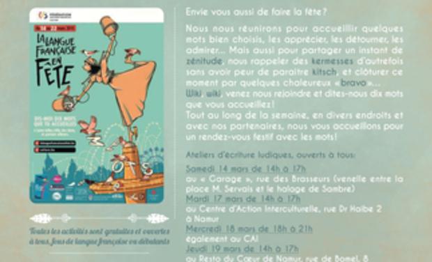 Project visual Kermesse des mots.- Fête de la langue française 2015