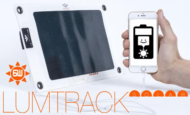 Visuel du projet LUMTRACK SOLAR, lancement d'un panneau solaire nomade ultra fin, ultra léger et flexible.