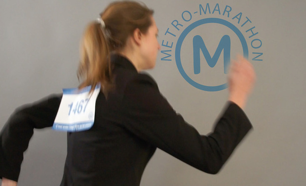 Project visual Métro Marathon 2015